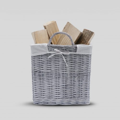 Buff Grey Square Log Basket